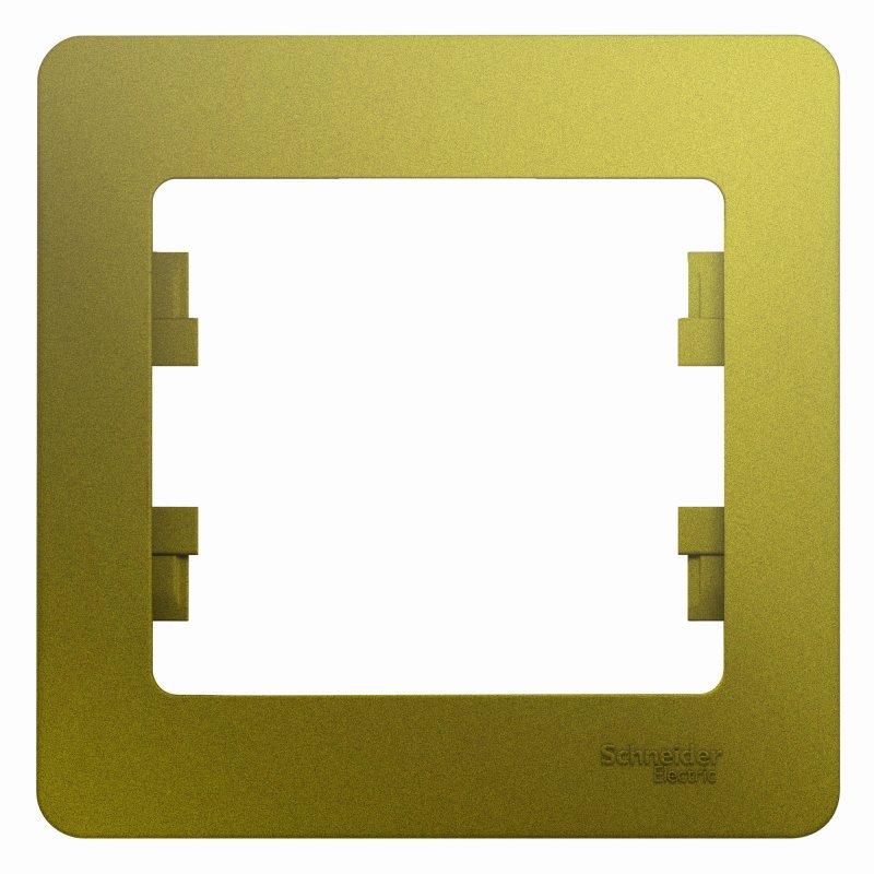 Рамка одинарная GLOSSA Schneider Electric фисташковая, Рамки и аксессуары