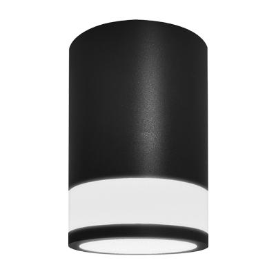 Светильник накладной ЦИЛИНДР ПОТОЛОЧНЫЙ С ПОДСВЕТКОЙ-GX53-П BL пластиковый под лампу GX53 230B черный IP20 IN HOME, Потолочные светильники