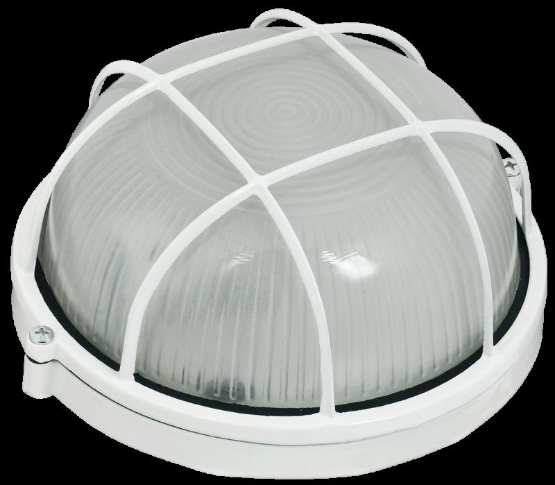 Светильник НПП 1302 белый круг с решеткой 60Вт IP54 IEK, Светильники ЖКХ