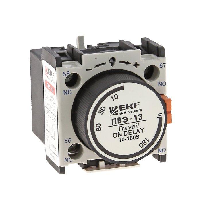 Приставка выдержки времени отключения ПВЭ-22 0,1-30сек NO+NC EKF PROxima, Дополнительные модульные устройства