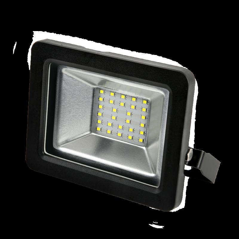 Прожектор светодиодный черный GAUSS 30 Вт, прожекторы