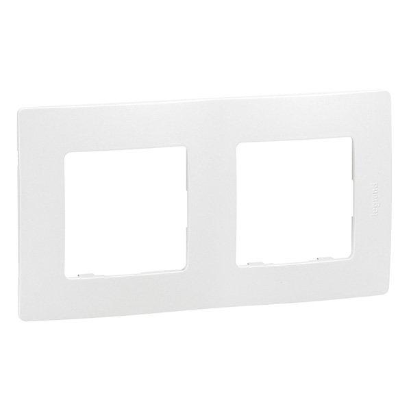 Рамка двойная ETIKA Legrand белая, Рамки и аксессуары