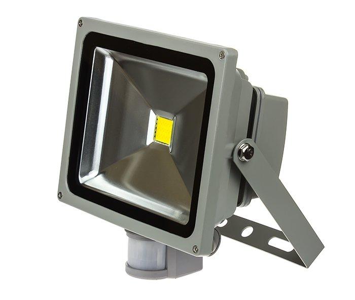 Прожектор светодиодный СДО-2Д-10 10Вт 230В 6500К 700Лм с датчиком движения IP44 LLT, прожекторы