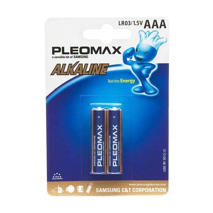 Батарейки ААА Pleomax LR03-2BL (2шт), Алкалиновые батарейки