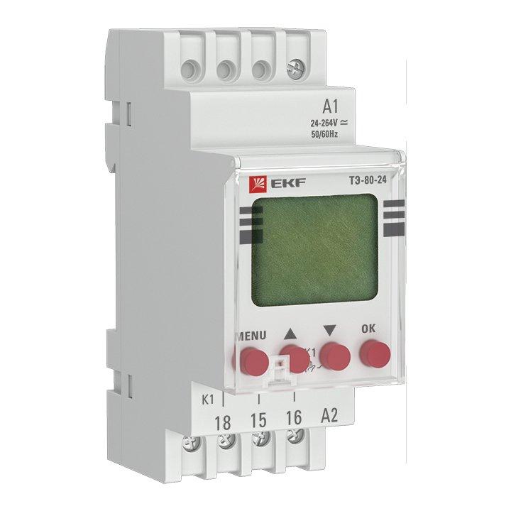 Таймер электронный ТЭ-80 24-230В EKF PROxima, Дополнительные модульные устройства