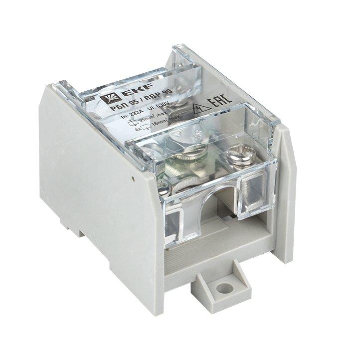 Распределительный блок проходной РБП 95 (1х95-4х16 мм2) 232/100А EKF PROxima, Блоки распределительные