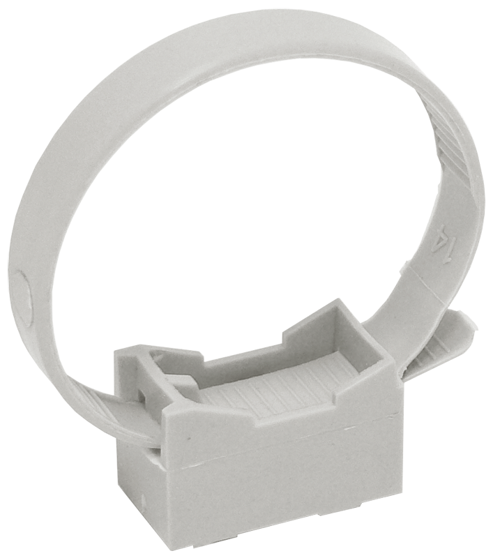 Хомутный держатель со стяжкой CFF2 32-63 мм серый IEK