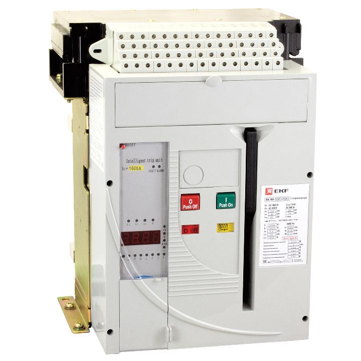 Автоматический выключатель ВА-450 1600/ 800А 3P 55кА стационарный EKF, Автоматические выключатели