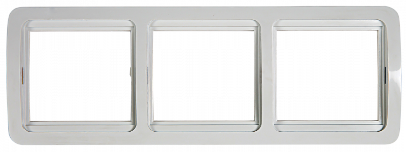 Рамка 3ая горизонтальная CLASSICO белая 2303H IN HOME, Рамки и аксессуары
