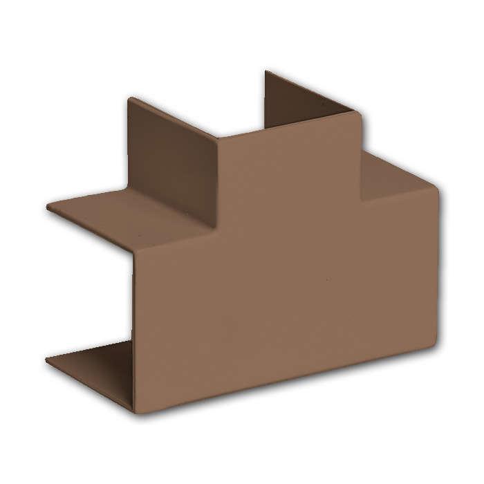 Тройник накладной 90 градусов 15х10 коричневый, Аксессуары для кабель-канала