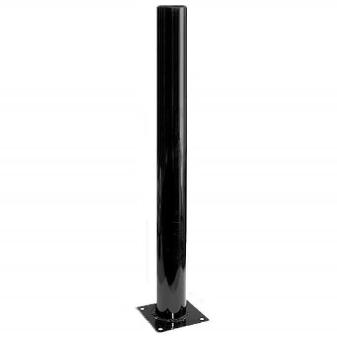 Опора стальная черная эмаль 1,0 для садово-паркового светильника, Комплектующие к садово-парковым светильникам