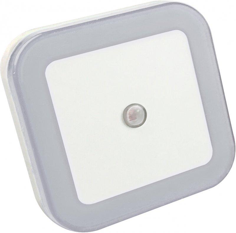 Ночник светодиодный NLE 03-SW-DS КВАДРАТ белый с датчиком освещения 230В IN HOME, Ночники светодиодные