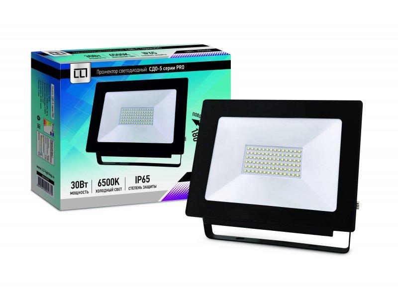 Прожектор светодиодный СДО-5-30 серии PRO 30Вт 230В 6500К 2850Лм IP65 LLT, прожекторы