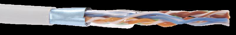 ITK Кабель связи витая пара F/UTP кат.5E 4x2х24AWG solid PVC серый, кабель витая пара
