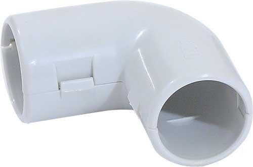 Поворот на 90 гр. 20 мм для труб ПВХ IP40 серый
