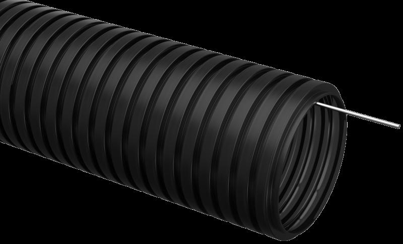 Труба IEK гофрированная ПНД 40 с зондом черная