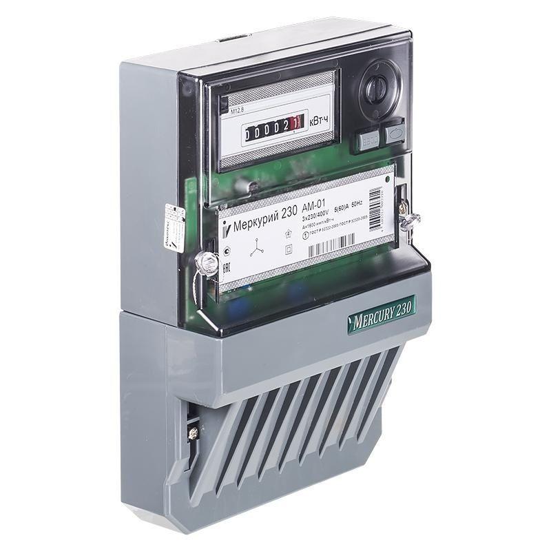 Счетчик Меркурий 230AМ-01 5-60A 1,0S 380В трехфазный однотарифный