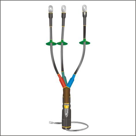 Муфта 1 КНТп-3 (3х150-240) концевая наружная, Муфты кабельные