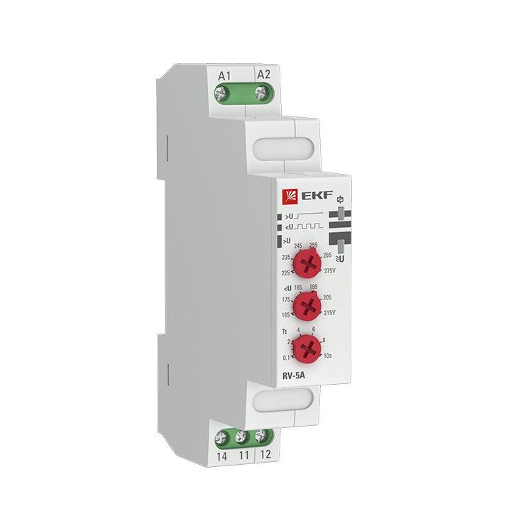 Реле напряжения (паралл. подкл.) RV-5A EKF PROxima, Реле напряжения и тока