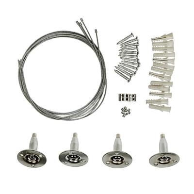 Комплект подвесов LP-КПТ на тросах для панели сд ультратонкой IN HOME, Светодиодные панели