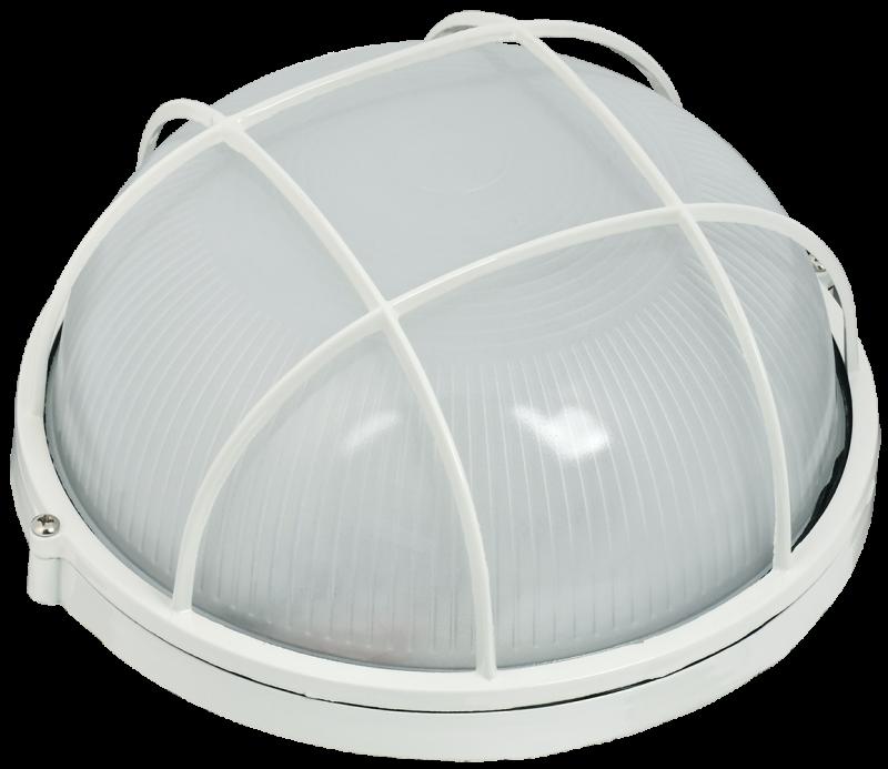Светильник НПП 1102 белый круг с решеткой 100Вт IP54 IEK, Светильники ЖКХ