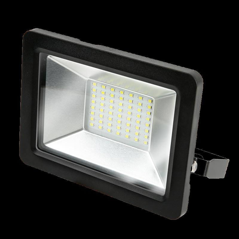 Прожектор светодиодный LED 50Вт IP65 6500К черный GAUSS, прожекторы