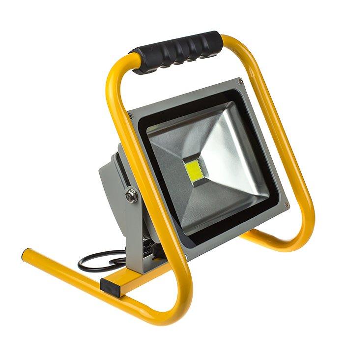 Прожектор светодиодный СДО-2П-10 10Вт 230В 6500К 700Лм IP65 переносной LLT, прожекторы