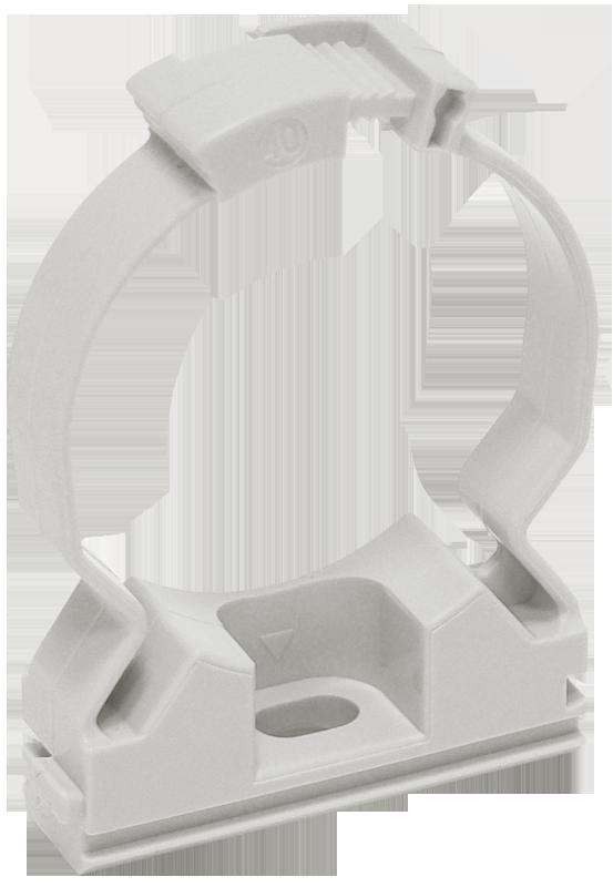 Хомутный держатель для труб 16 мм IEK, Крепления для труб