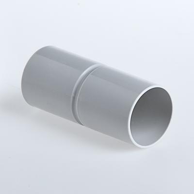 Патрубок-муфта 50 мм для труб ПВХ IP40 серый