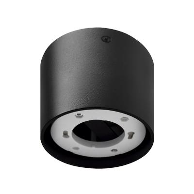 Светильник накладной ЦИЛИНДР ПОТОЛОЧНЫЙ-GX53-П BL пластик под лампу GX53 230B черный IP20 IN HOME, Потолочные светильники