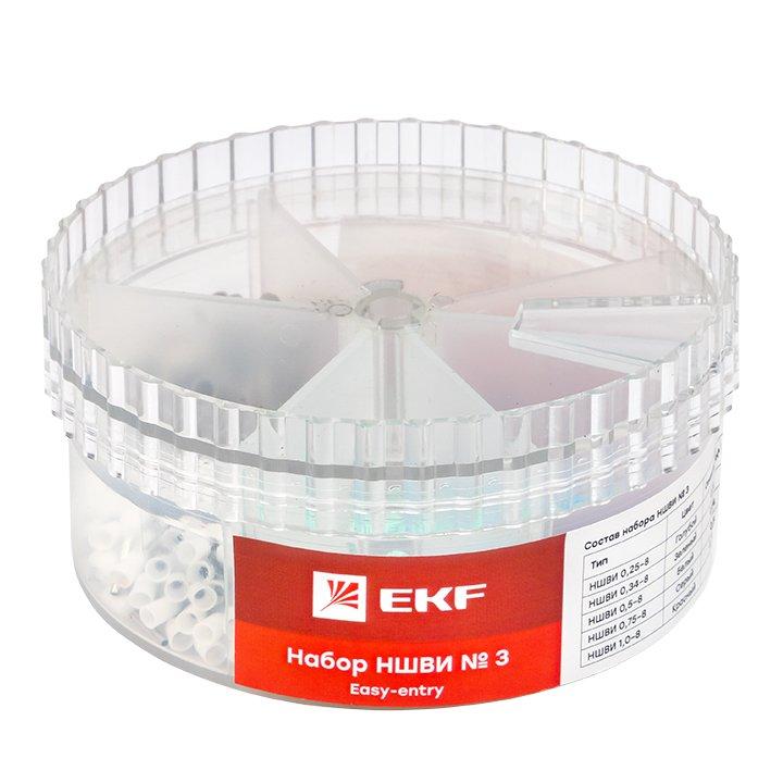 Набор НШВИ №3 (0,25-1мм2) EKF PROxima, Изолированные наконечники и разъемы