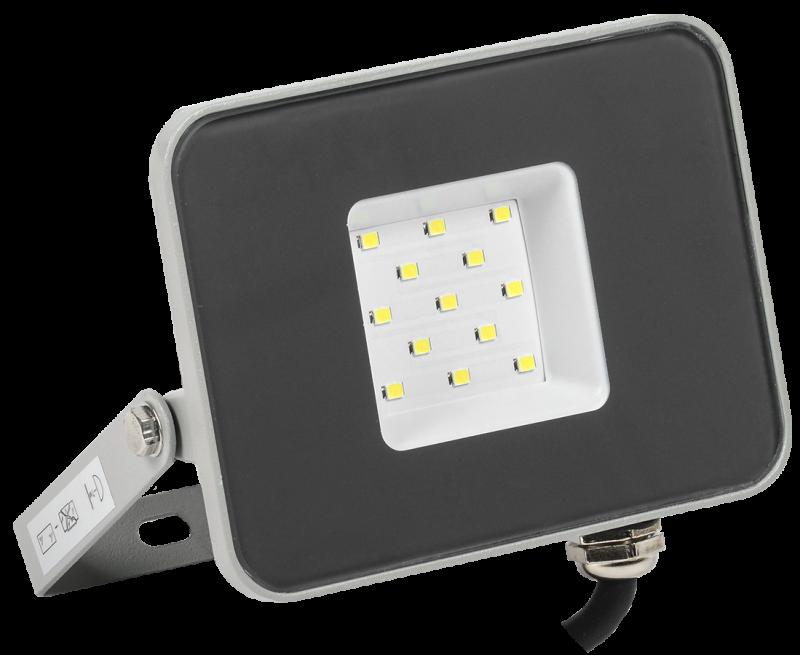 Прожектор светодиодный серый СДО IEK 10 Вт, прожекторы