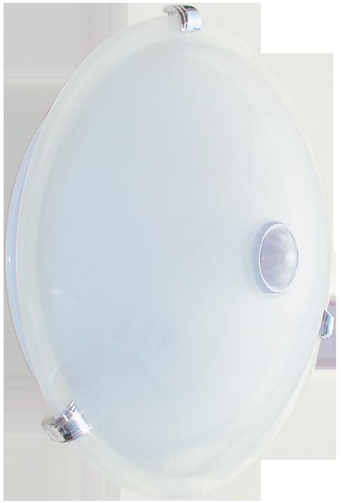 Светильник НПО3231Д белый 2х25 с датчиком движения IEK, Светильники ЖКХ