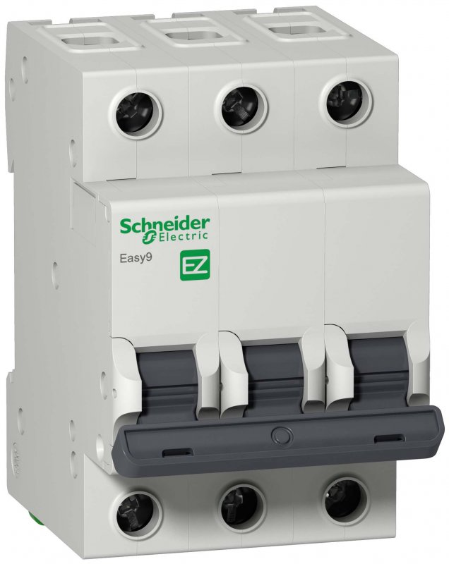 Автоматический выключатель Schneider Electric Easy9 3P 25A 4,5кА характеристика C, Автоматические выключатели
