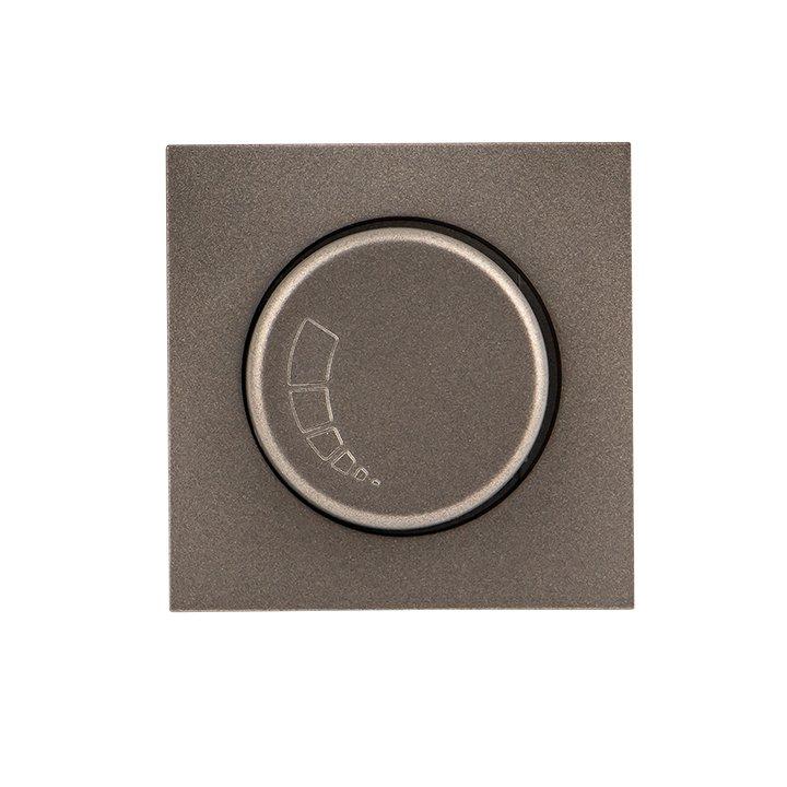 Валенсия лицевая панель светорегулятора 600W 220В графит EKF PROxima, Диммеры