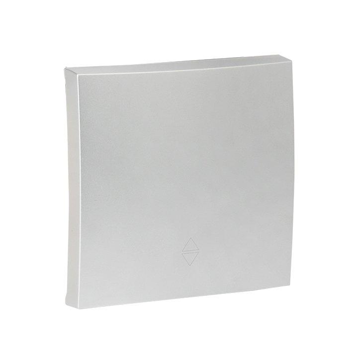 Валенсия лицевая панель  выключателя 1-кл. 10А сталь  EKF  PROxima, Выключатели встраиваемые