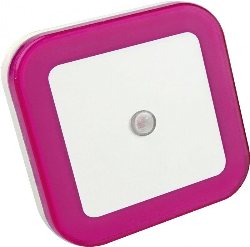 Ночник светодиодный NLE 03-SP-DS КВАДРАТ розовый с датчиком освещения 230В IN HOME, Ночники светодиодные