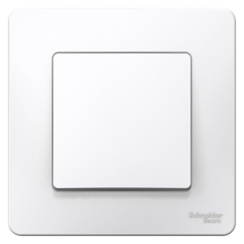 Переключатель одноклавишный BLANCA Schneider Electric белый, Выключатели встраиваемые