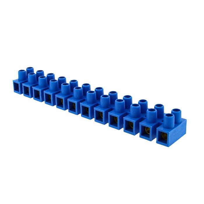 Колодка клеммная (4мм.) 3А полистирол синяя (10шт.) EKF PROxima, Соединительные изолирующие зажимы
