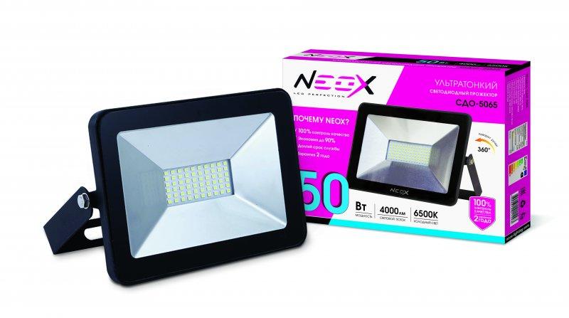 Прожектор светодиодный СДО-5065 50Вт 230В 6500К 4000Лм IP65 NEOX, прожекторы
