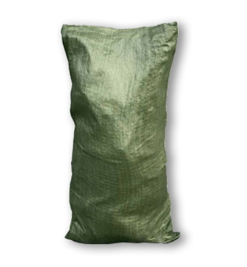 Мешок строительный для мусора зеленый