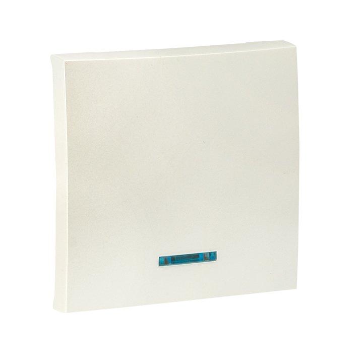 Валенсия лицевая панель выключателя 1-кл. с индикатором 10А жемчуг EKF PROxima, Выключатели встраиваемые