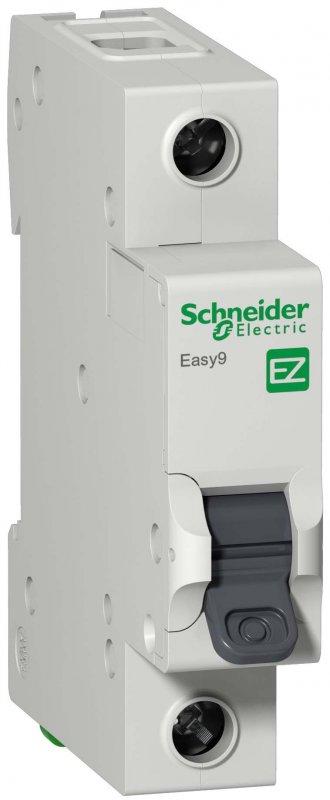 Автоматический выключатель Schneider Electric Easy9 1P 25A 4,5кА характеристика C, Автоматические выключатели