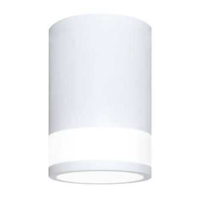 Светильник накладной ЦИЛИНДР ПОТОЛОЧНЫЙ С ПОДСВЕТКОЙ-GX53-П WT пластиковый под лампу GX53 230B белый IP20 IN HOME, Потолочные светильники