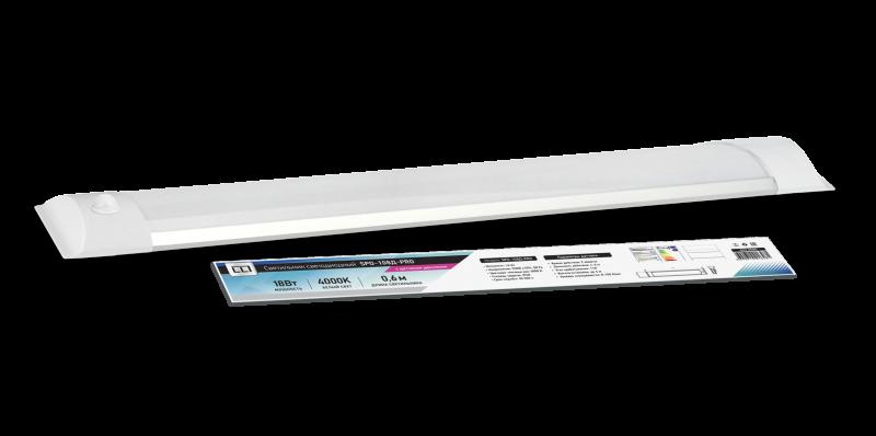 Светильник светодиодный SPO-108Д-PRO 18Вт 230В 4000К 1300Лм 600мм с датчиком движения IP40 LLT, Линейные светильники