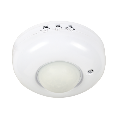 Датчик движения инфракрасный ДД 020B 800Вт 360 гр.6м IP33 белый IN HOME, Датчики