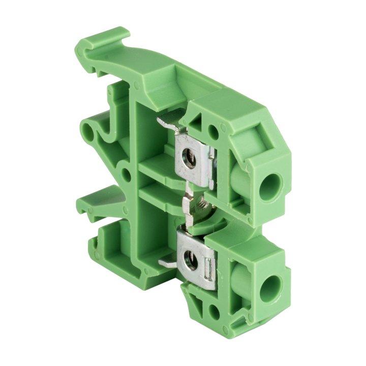 Колодка клеммная JXB-6/35 зеленая EKF PROxima, Соединительные изолирующие зажимы