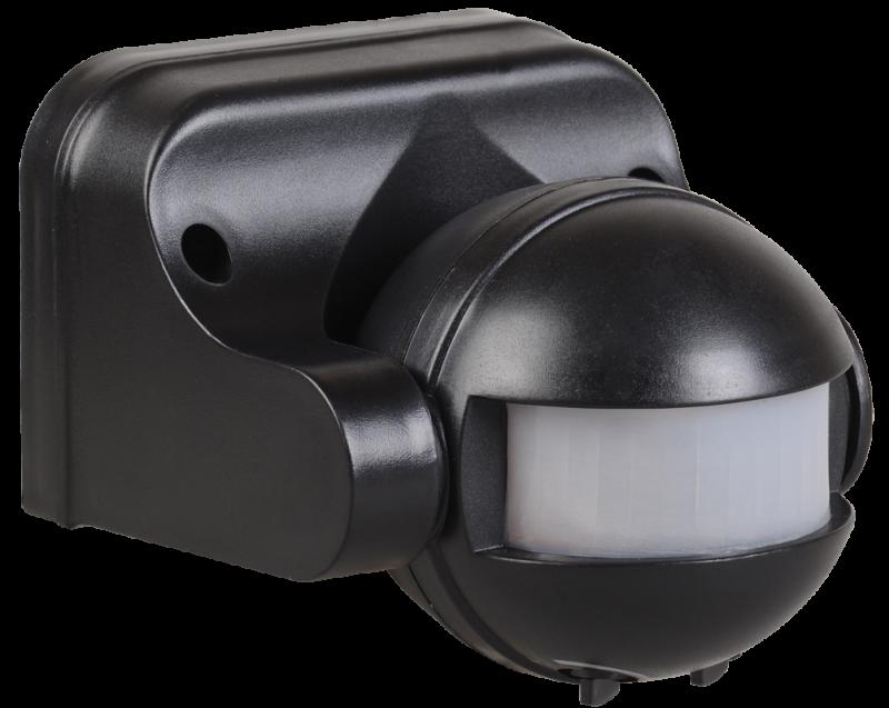 Датчик движения IEK ДД 009 1100Вт 180 гр. 12м IP44 черный, Датчики