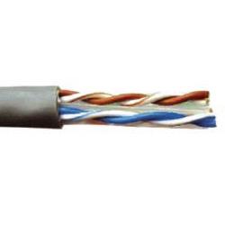 Кабель связи витая пара U/UTP кат.5E 4 пары PVC серый GENERICA, кабель витая пара