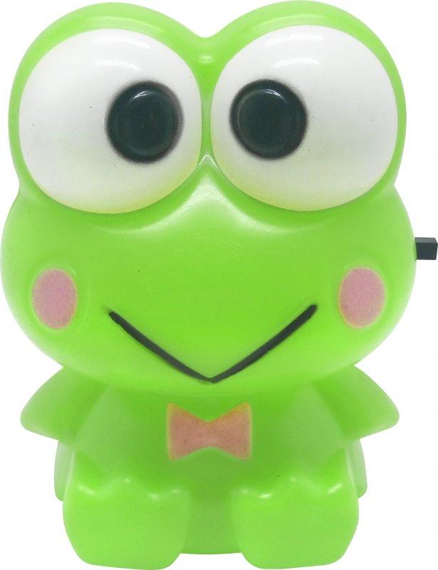 Ночник светодиодный NLA 02-FG ЛЯГУШОНОК зелёный с выключателем 230В IN HOME, Ночники светодиодные